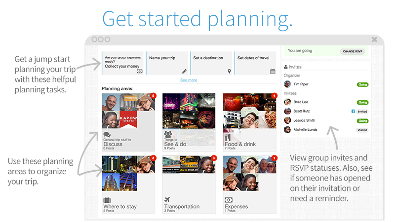 Travefy Planning Page