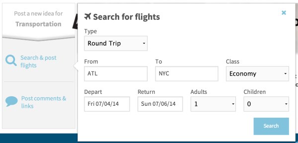 Search Flights Travefy Flights